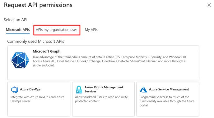 APIs my org uses